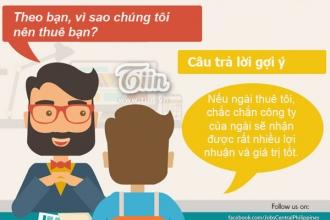 Infographic: Gợi ý những câu trả lời hay khi phỏng vấn xin việc